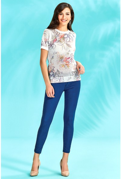 Guitar Kadın 18014-H Mavi Pantolon