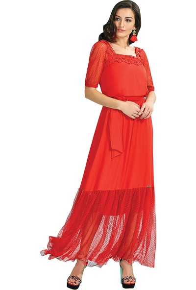 Guitar Kadın 18263 Kırmızı Elbise