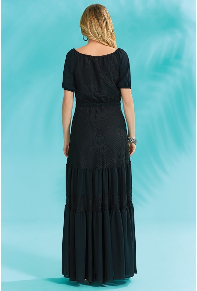 Guitar Kadın 18265 Siyah Elbise