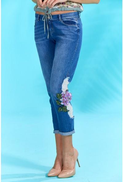 Guitar Kadın 18278 Mavi Kot Pantolon