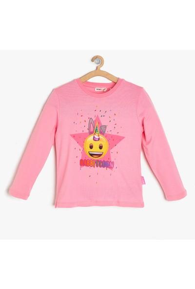 Koton Kız Çocuk Emojı Baskılı T-Shirt