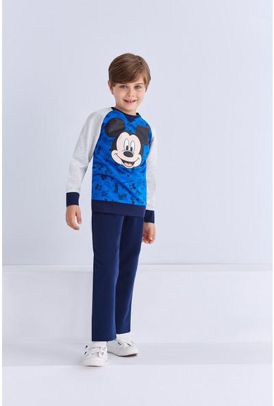 Mickey Mouse Lisanslı Erkek Çocuk Eşofman Takımı Saks