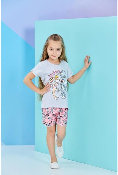Lola Bunny Lisanslı Kız Çocuk Şortlu Takım Gri