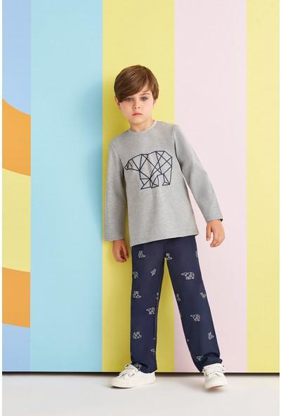 RolyPoly Cubic Polar Bear Erkek Çocuk Pijama Takımı Grimelanj