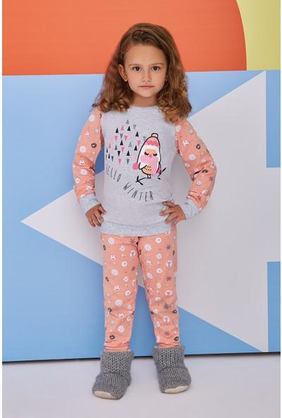 RolyPoly Hello Winter Kız Çocuk Pijama Takımı Açık Gri