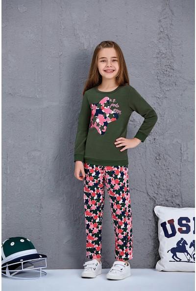 Us Polo Assn Kız Çocuk Eşofman Takım Çağla Yeşili