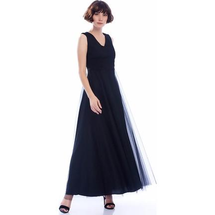 d95a2027d0b54 İroni Güpürlü Uzun Tül Abiye Elbise Fiyatı - Taksit Seçenekleri