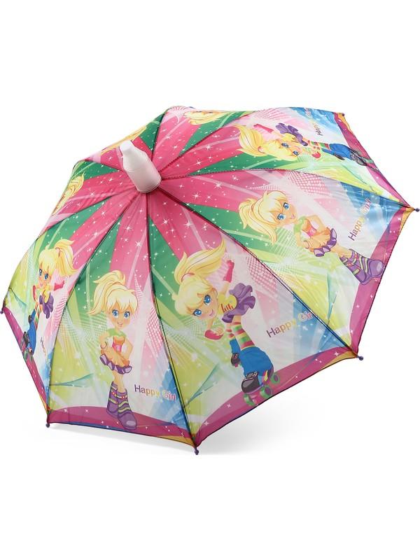 Almera Pvc Kılıflı Kız Çocuk Şemsiyesi - Patenli Kız Eflatun
