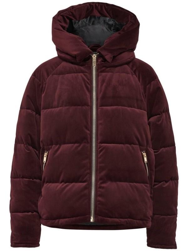 Only Kahverengi Kadın Günlük Mont 15165710-O Onlnew Paula Oversized Velvet Jacket Otw