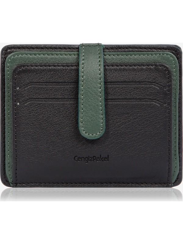 Cengiz Pakel Deri Kartlık 2453 - Siyah / Yeşil