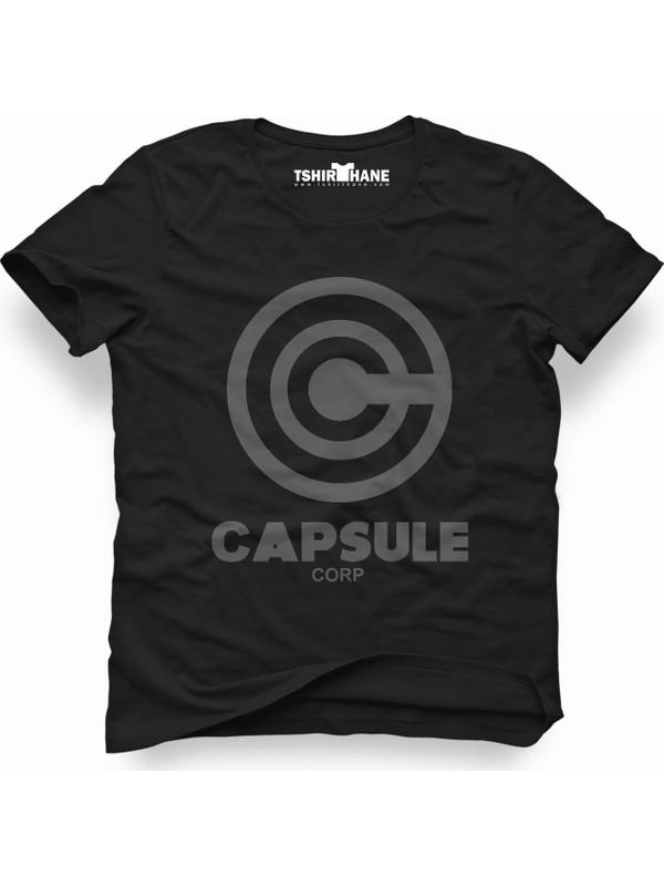 Tshirthane Capsule Corp. Siyah Erkek T-Shirt