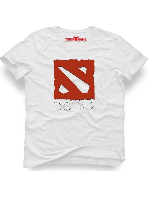 Tshirthane Dota 2 Beyaz Erkek T-Shirt