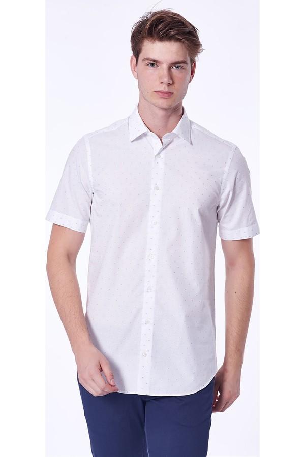 Dufy Men's Dotted Shirt