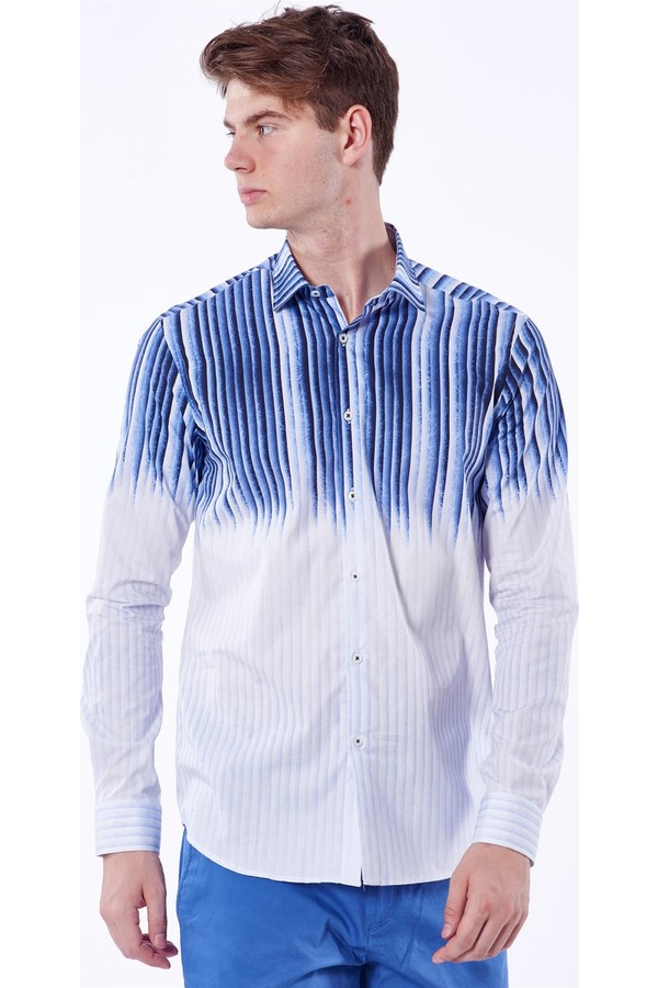 Dufy Men's Shirt With Striped Details