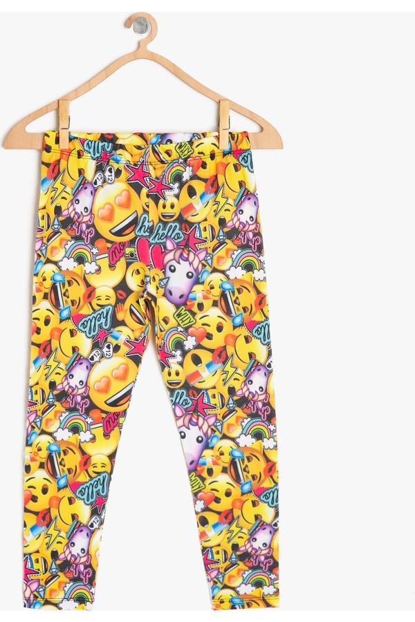 Emoji Cotton Printed Leggings