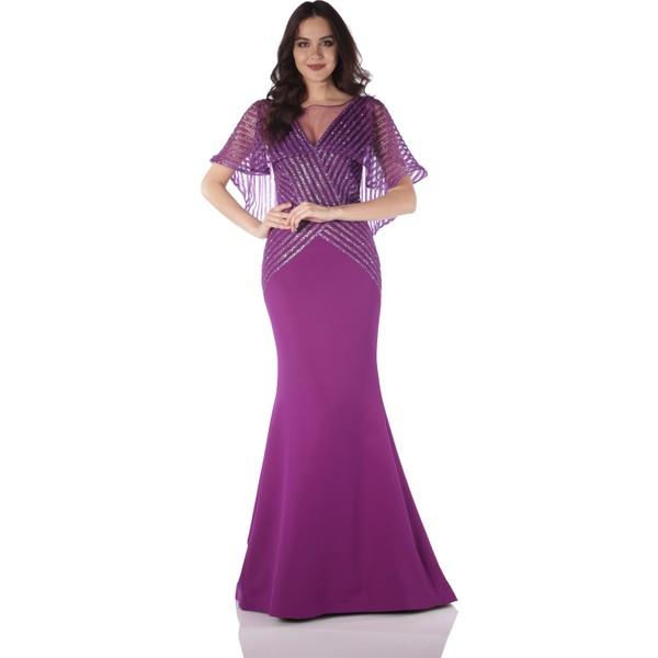 6b44d5d9214ee Pierre Cardin Mürdüm V Yaka Pelerinli Balık Abiye Elbise - 38 Ürün Resmi