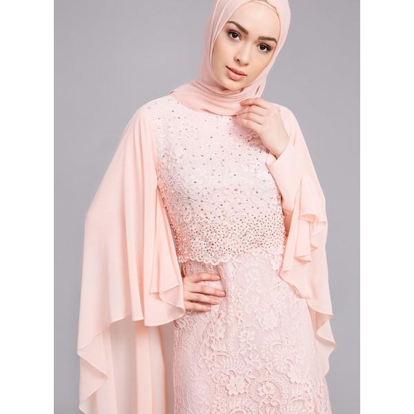 91f4efd43b098 Refka Dantelli Abiye Elbise - Pudra - 48 Fiyatları, Özellikleri ve ...