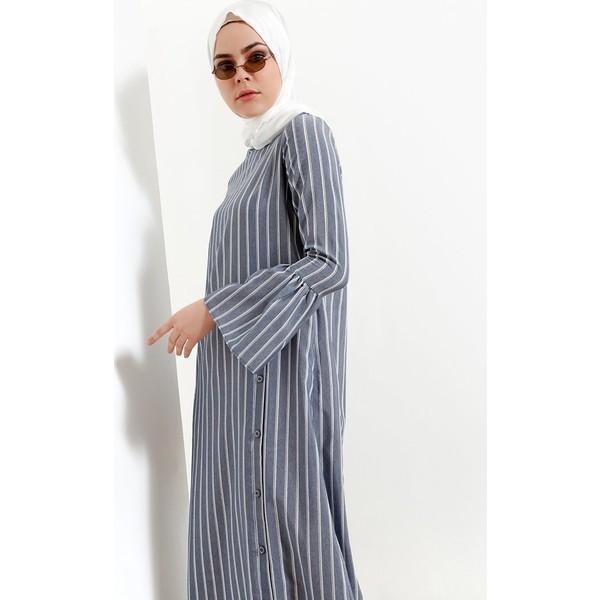 3ed2d5050dd5c Refka Çizgili Elbise - Lacivert - 42 Fiyatları, Özellikleri ve ...