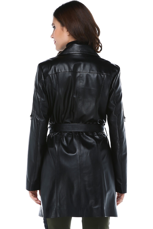 Dericlub Genuine Leather Women's Coat Yb-060