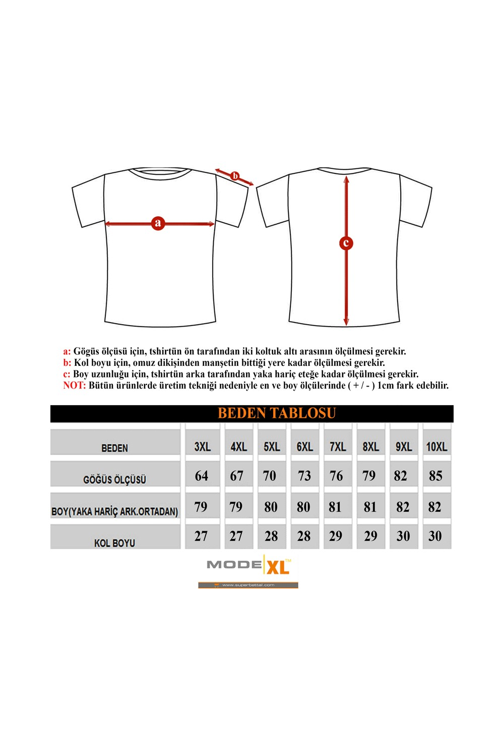 ModeXL Men's T-Shirt with Solid Design 18551