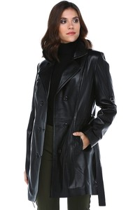 Dericlub Genuine Leather Women's Coat Yb-060