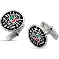 Nali Şerif Gümüş Osmanlı Devlet Arması 925 Ayar Gümüş Kol Düğmesi