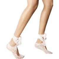 Veneziana Bej Bağlamalı Soket Çorabı BABETTE MARYLIN BIANCO