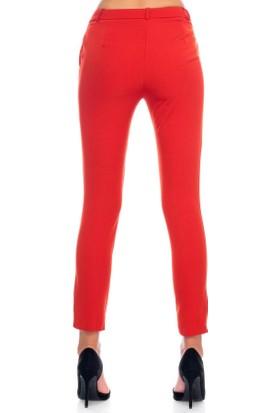 Miss Poem Bilek Boyu Strech Kırmızı Pantolon 44400