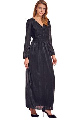 Guitar Kadın 18767 Siyah Abiye Elbise