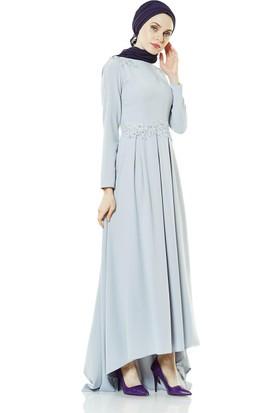 Fashion Night Abiye Elbise-Gri 2188-04