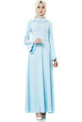 2niq Kloş Abiye Elbise-Bebek Mavisi PN8246-118