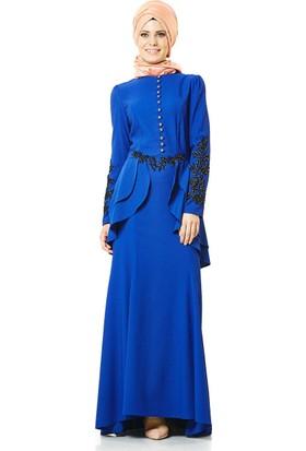 Lady Nur Abiye Elbise-Saks 3008-47