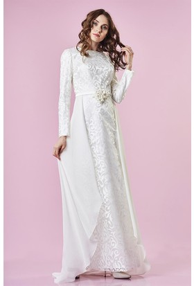 f087daa601367 Beyaz Tesettür Abiye Modelleri ve Fiyatları & Satın Al