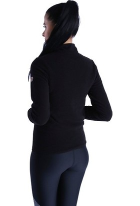 Sportive 710081-00B Spo-Polarhalfwom Kadın Polar Siyah