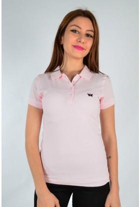 Marcoroni Polo Yaka Pudra Pembe T-Shirt