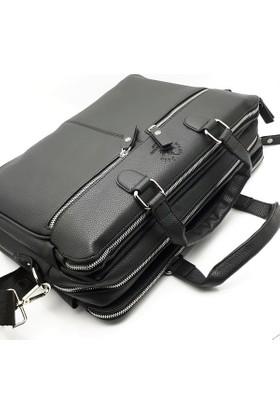 81d6442346426 West Polo Clup Laptop Bölmeli 3 Gözlü Omuz Askılı Evrak Çantası ...