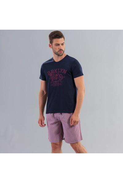 Ödül 9007 Erkek T-Shirt Şort Pijama Takımı Laci