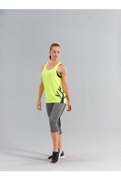 Ral Sport 31250 Baskılı Kadın Atlet Neon Sarı