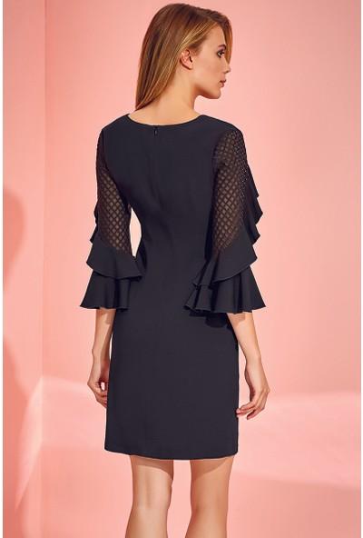 Guitar Kadın 18518 Siyah Elbise