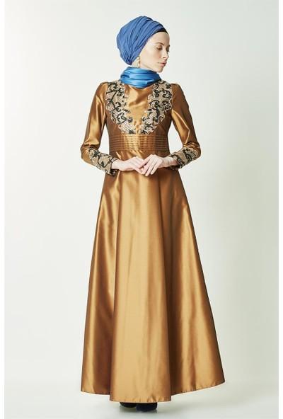 Kayra Abiye Elbise-Gold KA-B7-23049-63