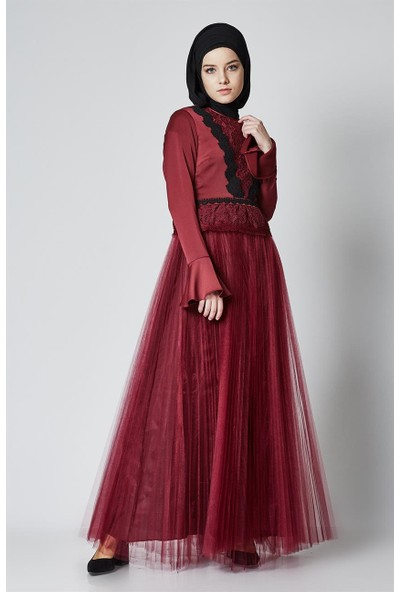Kayra Abiye Elbise-Bordo KA-A7-23079-26