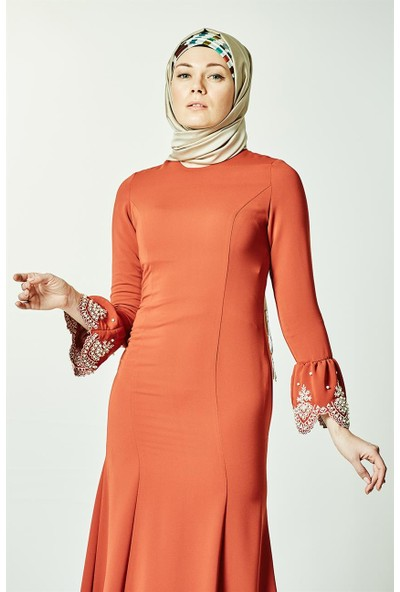 Kayra Abiye Elbise-Kiremit KA-A7-23109-67