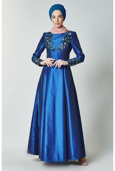 Kayra Abiye Elbise-Saks KA-B7-23049-74