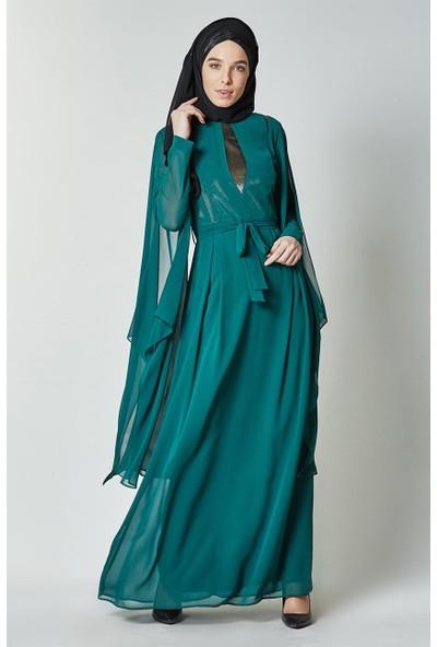 Kayra Abiye Elbise-Zümrüt KA-B7-23072-84