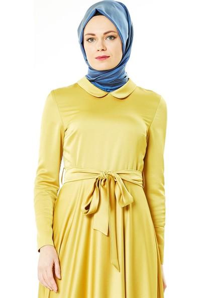 Nihan Abiye Elbise-Safran Z1180-56