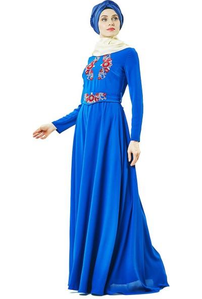 Miss Glamour Abiye Elbise-Saks 2627-47