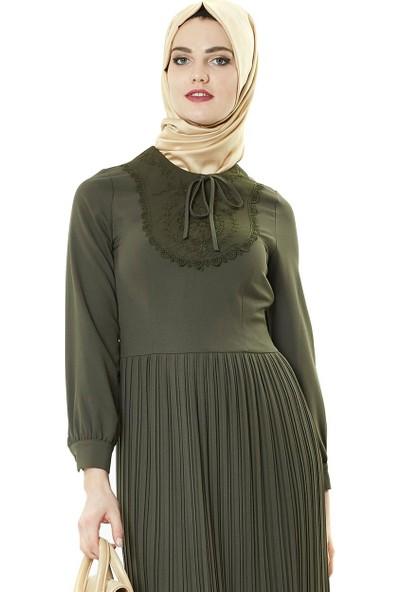 Famelin Elbise-Haki 7500-27