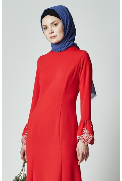 Kayra Abiye Elbise-Kırmızı KA-A7-23109-19
