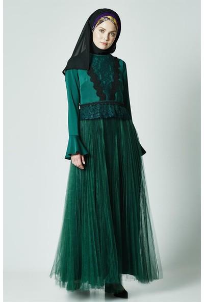 Kayra Abiye Elbise-Zümrüt KA-A7-23079-84