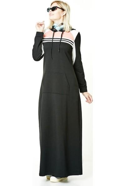 Bwest Elbise-Siyah 8240-01